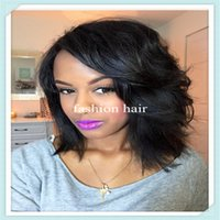 Wholesale High quality free style silk top full lace human hair wigs lace front human hair wigs short brazilian hair