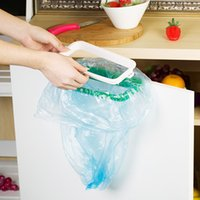 Wholesale New Garbage Bag Holder Plastic Bracket Stand Rack Kitchen Trash Storage Hanger E00574