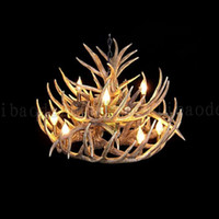 antler art - vintage Antler chandelier lighting Industrial Fixture Country Layers Lights for Living Room Dining room Easy Installation LLWA159