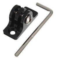 Wholesale Black Aluminum Alloy Flat Bottom Tripod Adapter Mount For Gopro HD Hero SJ4000 Camera Fixed Base