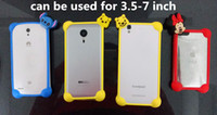Wholesale Universal DIY D Silicone Cartoon Bumper Frame Character Case Kitty Mickey Winnie for iPhone Samsung S7 S6 HTC LG ZTE Coolpad inch