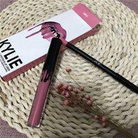 Wholesale In Stock KYLIE JENNER SMILE TRAIN LIP KIT Kylie Lip Matte Liquid Lipstick Lip Liner Velvetine in Red Velvet Makeup free DHL
