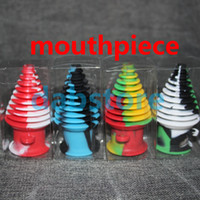 Wholesale High Quality Tower Shape Silicone Mouthpiece Cover Rubber Drip Silicone Mouth Piece for GLASS BONG Silicone Containers