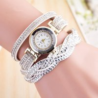 Wholesale Hot selling Luxury Rhinestone Women Wrap Bracelet Watches Gold Case Fashion Dress Wrist watch relojes Relogio feminino