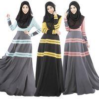 Wholesale Fashion Muslim Girl Dresses Malaysia Long Dress Clothing For Islamic Women Dubai Abaya Female Muslim Abaya Robes