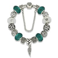 angle bead - 2016 spacer beads angle wings pandora silver style cooper charm bracelets fashion price for