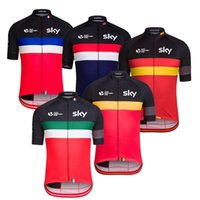 Wholesale 2016 Tour De France SKY Cycling Tops st Century Belgium Italy England Spain France Cycling Jerseys Quick Dry Bike Wear XS XL