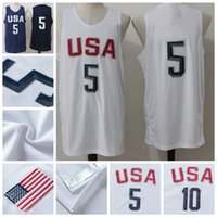 Wholesale 2016 Olympic USA home Basketball Jerseys Hot Sale Brand Basketball Wears
