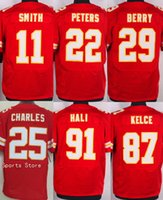 alex footballs - New Chiefs Elite Mens Stitched Travis Kelce Eric Berry Marcus Peters Alex Smith Tamba Hali Jerseys Drop Shipping