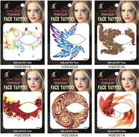 artistic eye makeup - Artistic personality fashion stickers Waterproof tattoo paste Eye shadow stick a face stickers Colour makeup tattoo stickers HSE