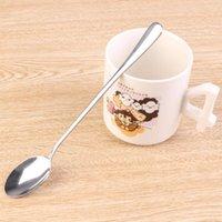 Wholesale Stainless Steel Seasoning ladle Spoon Long Teaspoon Dessert Drink Stir Coffee