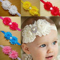 band cross - Children s hair accessories Headbands baby flowers woven cross hair band headbands cotton elastic cloth baby Hair Sticks