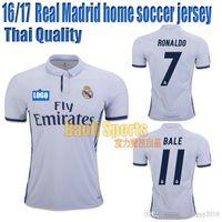 Wholesale Real Madrid jersey soccer jersey home jersey RONALDO BALE SERGIO RAMOS BENZEMA Thai Quality Football shirt