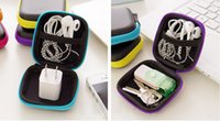 ipods - 2016 Portable Mini Zipper case inch or cm Storage Bag Keeper For Ipods Earphones cables chargers Flashdrives Keys