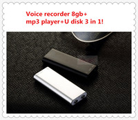 Wholesale The most mini voice recorder in the world voice recorder MP3 player U disk in built in gb memory