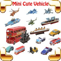 Wholesale New Year Gift Cute Vehicle D Puzzles Model Transportation Set Learning Education Toys DIY Game Teach Tool Kids Family Work