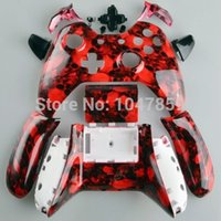 big microsoft - Custom Hydro Dipped Big Hades Red Skull Replacement Shell Kits For Microsoft XBOX One Wireless Controller drop shipping