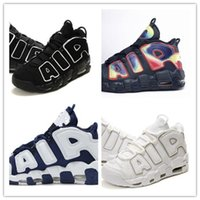 big corks - Air More UpTempo Retro Black White Olympic Scottie Pippen Mens Women Trainers Big Air Good Quality Cheap Fashion Sneakers