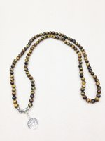 big chunky necklaces wholesale - ST0260 Top Desige Necklaces Tree of Life Charms Tiger Eye Necklace Big Chunky Necklaces