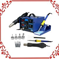 Wholesale 110V D in1 SMD Soldering Iron Hot Air Rework Station Desoldering Repair