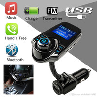 Wholesale T10 USB Car Charger Bluetooth Car Kit FM Transmitter inch Screen Hands free MP3 Audio Player VS BC09 BC08 BC06 X5 G7 T10 T11 Car Kit