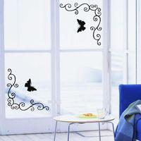 beautiful bathroom colors - Hot Sale Beautiful Design Removable Showcase Glass Window Door Bathroom Wall Mirror Sticker Home Decoration Colors