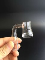 Wholesale New arrival mm grails quartz banger nail with slit with thick bottom degree and clear joint