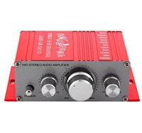 Wholesale 12V Mini Auto Car Stereo power Amplifier channel HiFi Audio CD DVD MP3 Durable player for Truck Motorcycle Loudspeaker HY2001