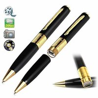 Wholesale By DHL Free GB HD Spy Pen Camera Mini Video Recorder Hidden DVR with Memory Card Slot Mini Pen Cameras