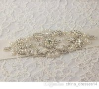 Wholesale New Hot Sale Bridal Sashes Pearl Long Satin Withe And Ivory Elegant New Bridal Accessories Belts
