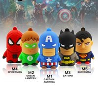 batman drive - Classic Heroes Superman Spiderman Batman USB Flash Drive GB GB GB pen drive memory stick Flash card free Gift Box