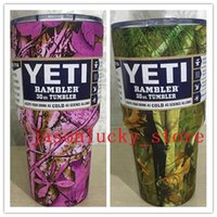 Wholesale IN STOCK camouflage color oz yeti cups WITH LOGO thermos capacity tumbler rambler Insulated DHL SEND Christmas Gifts