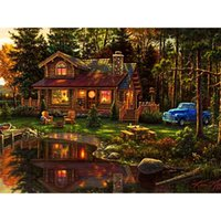 art cabin - New Patchwork home decor Outskirts cabin Diy Diamond Painting Diamond wall craft sticker X30CM HWD