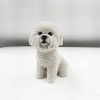 bichon frise gifts - Dog giftwares animal resin arts Small Artificial Bichon Frise Resin Crafts For Auto Ornament sale