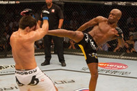 anderson silva - Anderson Silva Right Kick Fighting UFC Poster x35