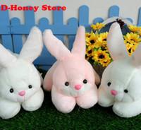 al por mayor conejo animales de peluche de color rosa-Super Kawaii 30CM Plumpy BOBO conejo peluche relleno TOY DOLL animales juguetes para niños conejo de color rosa blanco