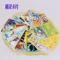 alphabet cards - Poke Trading Cards sets English Anime Pocket Monsters Pikachu Cards Poker Battle Flash card For Children Toys DHL C1135