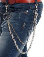 Wholesale 2016 new men pants chain metal punk waist chain han edition accessories fashion personality