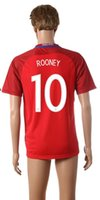 Wholesale Rooney Away Soccer Jersey Euro Cup Soccer Jersey Red Cheap Soccer Jerseys for Men Thailand Quality Soccer Wears Allow Customs