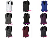 Wholesale Batch burst models for new winter men s casual men s suits wedding vest lattice models VS05