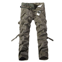 Wholesale Men s Camo Cargo Multi pocket pants Mens casual matchstick trousers Men military Camouflage trousers pants