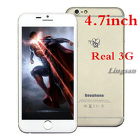 Wholesale 4 Inch Goodphone i6 i6s G MTK6582 Quad Core G1GB GB Android4 Capacitive Touch Screen Smart Mobile Phone