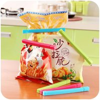 Wholesale 6pcs set Food Snack Storage Seal Sealing Bag Clips Sealer Clamp Plastic Tool Kitchen Tool Multicolor