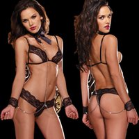 Wholesale Women s Naughty Knot Body Bow Sexy Underwear Lady Transparent mesh lace sexy clairvoyant outfit sexy sleepwear racy lingerie Braces