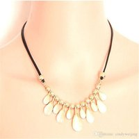 beautiful opals - Fashion Opals Statement Necklaces Women Lady Beautiful Bohemian Style Pendant Rope Chokers Party High Quality Jewelry