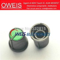 Wholesale plastic Potentiometer knob color to choose RED BLUE GREEN YELLOW BLACK For Single and double potentiometer switch