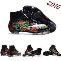 Wholesale 2016 Nike Men s Mercurial Superfly FG CR7 Shoes Soccer Boots Cleats Laser original Men shoes Soccer Shoes Football Shoes Free Shpping