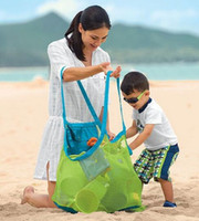 applied clothing - New Arrive Applied Enduring Children sand away beach mesh bag Children Beach Toys Clothes Towel Bag baby toy collection nappy