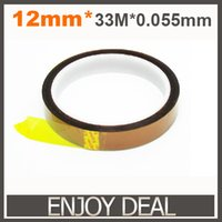 Cheap Wholesale-2 pcs 12mm x 33m High Temperature Resistant Tape Heat Dedicated Tape Polyimide Tape for BGA PCB SMT 3D Printer Up to 250 Celsius