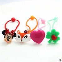 baby fox band - Fox baby hair accessories Cartoon Heart four leaved clover Children Hair Rope Fashion Elastic Band Kids Band Clips Tie Rope